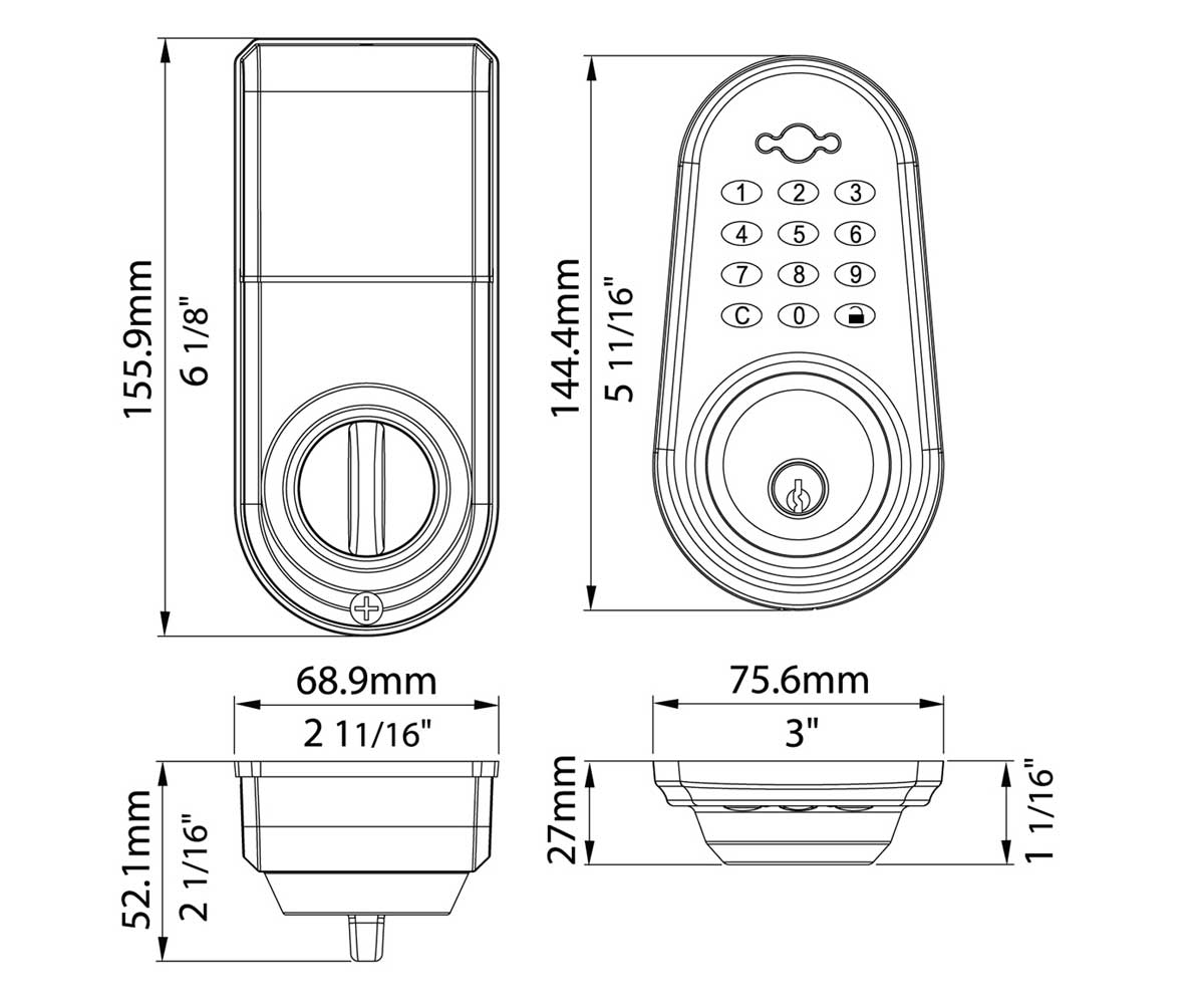 rtd series keyless door lock